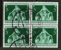 GERMANY  Scott # 474 VF USED BLOCK Of 4 (Stamp Scan # 453) - Used Stamps