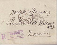 """LITUANIE : REC . DE """" KAUNAS """" . POUR LE LUXEMBOURG . 1922 . - Lituanie"""