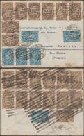Allemagne 3.9.1923 Michel 252 X 6  Et 253 X 21 Sur Lettre. Tarif 75000 Pour Lettre Nationale. Cote Des Timbres 75.50 € - Allemagne