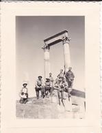 MINI PHOTO--MILITARIA--ALGERIE---1935---TIMGAD--le Temple Du Génie--voir 2 Scans - Manoeuvres