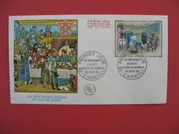 FDC 1965   Les Très Riches Heures Du Duc De Berry    Cachet  Chantilly    à Voir - 1960-1969