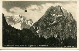 006176  Kreuzeckbahn , Blick Auf Zugspitze U. Waxenstein  1931 - Zugspitze