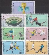 ALBANIA 1418-1424,used,football - Albanie