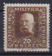 BOSNIA EZERGOVINA POSTA MILITARE 1916 EFFIGE DI FRANCESCO GIUSEPPE UNIF. 103 USATO VF - Bosnia Erzegovina