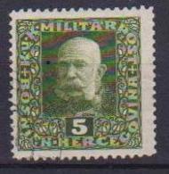 BOSNIA EZERGOVINA POSTA MILITARE 1916 EFFIGE DI FRANCESCO GIUSEPPE UNIF. 98  USATO VF - Bosnia Erzegovina