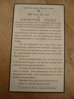 Overmere Lokeren Heiende Edmond Fiers 1861 1949 - Devotieprenten