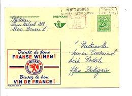 BELGIQUE PUBLIBEL VIN DE FRANCE OBLITERE N°2538 N - Stamped Stationery