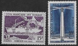 ⭐ Côte Des Somalis - YT N° 285 Et 286 ** - Neuf Sans Charnière - 1956 ⭐ - Unused Stamps