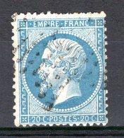 FRANCE - 1862 - YT N° 22 - Oblitéré - Napoleon III - 1862 Napoleon III