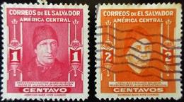 1947 Salvador Yt 547 , 548 . Isidro Menéndez  / José Crisanto Salazar - Salvador