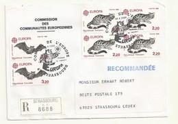 THEME EUROPE CONSEIL DE L'EUROPE EUROPA 1986  SUR LETTRE RECOMMANDEE - Marcophilie (Lettres)