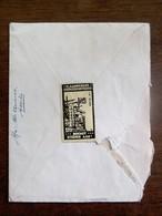 Oude Brief Omslag  Met Sluitzegel  VL . YZERGEDENKTEEKEN  Brengt Steenen Aan------  Van ASSHE Naar LEUVEN - Algemene Zegels