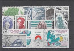 TAAF   POSTES 1988  N° 130 A 139A  NEUFS XX - Poste Aérienne