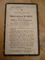 Lokeren Heiende Maria De Greef 1871 1912 - Devotieprenten