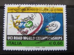 *ITALIA* USATI 2008 - CAMPIONATI MONDO CICLISMO STRADA - SASSONE 3059 - LUSSO/FIOR DI STAMPA - 6. 1946-.. Repubblica