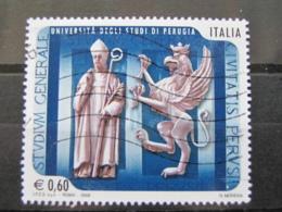 *ITALIA* USATI 2008 - UNIVERSITA' STUDI PERUGIA - SASSONE 3055 - LUSSO/FIOR DI STAMPA - 6. 1946-.. Repubblica