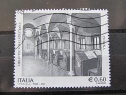 *ITALIA* USATI 2008 - BIBLIOTECA MALATESTIANA CESENA - SASSONE 3058 - LUSSO/FIOR DI STAMPA - 6. 1946-.. Repubblica