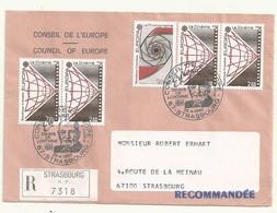 THEME EUROPE CONSEIL DE L'EUROPE EUROPA 1983  SUR LETTRE RECOMMANDEE - Marcophilie (Lettres)