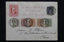 """FRANCE - Obli. """" Paris Exposition Philatélique """" Sur Types Blanc / Sage Sur Pseudo Entier Poincaré En 1913 - L 23220 - Marcophilie (Lettres)"""