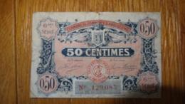Billet De Necessite Chambre De Commerce D'Angouleme 50c 1920 - 1939-45