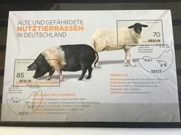 Duitsland / Germany - Sheet Bedreigde Rassen 2016 - Gebraucht