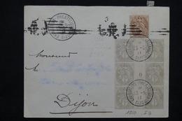 """FRANCE - Oblitération """" Dijon Exposition Philatélique """" Sur Types Blancs Dont Millésime Sur Enveloppe En 1911 - L 23221 - Marcophilie (Lettres)"""