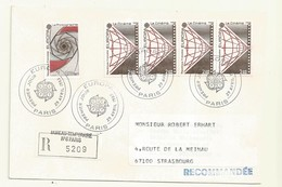 THEME EUROPE OBLITERATION PREMIER JOUR EUROPA 1983  SUR LETTRE RECOMMANDEE - Marcophilie (Lettres)