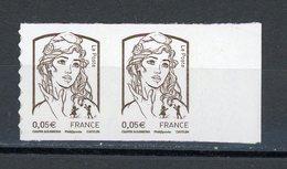 FRANCE - MARIANNE DE CIAPPA N° Yt 848 ** EN PAIRE - Adhésifs (autocollants)