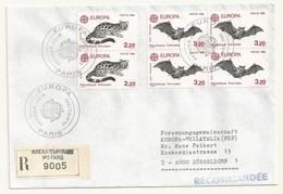 THEME EUROPE OBLITERATION PREMIER JOUR EUROPA 1986  SUR LETTRE RECOMMANDEE - Marcophilie (Lettres)