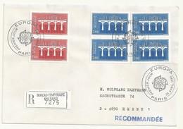 THEME EUROPE OBLITERATION PREMIER JOUR EUROPA 1984  SUR LETTRE RECOMMANDEE - Marcophilie (Lettres)