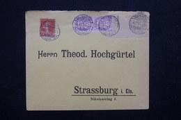 FRANCE - Affranchissement D 'Isenheim Type Blanc / Semeuse Sur Enveloppe Pour Strasbourg En 1919 - L 23222 - Marcophilie (Lettres)