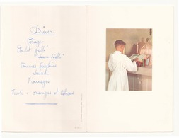 Menu De Communion Du 11 Mai 1961 - Menus