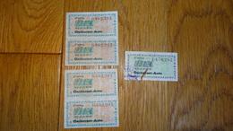 Lot De 4 Tickets Carburant Auto 1956 - Véhicules