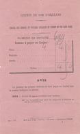 Chemin De Fer D'Orléans - Service Des Omnibus ... Dans Paris : Bulletin Mentionnant La Somme à Payer Au Cocher. - Titres De Transport