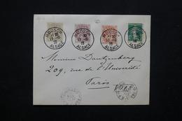 FRANCE - Affranchissement De Mdosch Au Type Blanc / Semeuse Sur Enveloppe Pour Paris En 1916 - L 23223 - Marcophilie (Lettres)