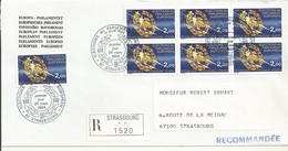 THEME EUROPE  ELECTIONS EUROPEENNES 1984  OBLTERATION PREMER JOUR  SUR LETTRE RECOMMANDEE - Marcophilie (Lettres)