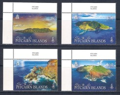 Pitcairn Isl. (2019) Pitcairn From The Air; Landscapes (set Of 4 Stamps With Labels) - MNH / As Scan - Geographie