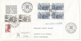 THEME EUROPE  EUROPA  1987  OBLTERATION PREMER JOUR  SUR LETTRE RECOMMANDEE - Marcophilie (Lettres)