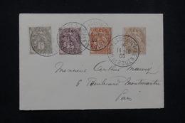 """FRANCE - Oblitération """" Kermesse Postale De Rouen """" Sur Type Blanc En 1906 Sur Enveloppe Pour Paris - L 23224 - Marcophilie (Lettres)"""