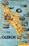 ILE D'OLERON CARTE GEOGRAPHIQUE CPSM PF - Cartes Géographiques