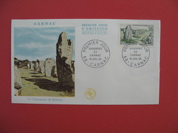 FDC 1965  Les Alignements De Menhirs   Cachet  Carnac    à Voir - 1960-1969