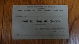 """Lot De 3 Enveloppes 10x5cm Eglise Reformee De France """"Contribution De Guerre """" - Religion & Esotérisme"""