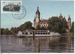 DDR # 3032 MAXIMUM-Karte Schwerin Tagesstempel 11.8.88. Wunderschöne Privat Angefertigte Max-Karte Auf Der Basis Einer F - DDR