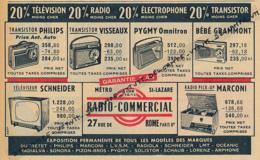 Ancienne Publicité (1960) : RADIO-COMMERCIAL, Transistor Philips, Visseaux, Pygmy Omnitron, Béné Grammont, Marconi... - Publicités