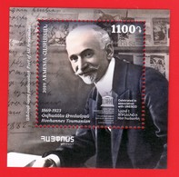 Armenien / Armenie / Armenia 2019, 150th Anniv. Of  Hovhannes Toumanian (1869-1923), Writer, UNESCO, SS - MNH ** - Armenien