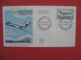 FDC 1965  Avion D'Affaires, De Liaison école Radar Et De Navigation  Salon Internationale  Cachet  Le Bourget    à Voir - 1960-1969