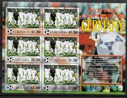 GRENADE Feuillet  N°  ( Angleterre )  * *  Cup 2006  Football  Soccer Fussball - 2006 – Allemagne