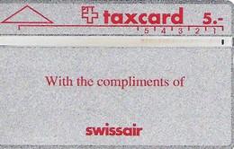 PTT: K-91/6A 101E Swissair With Compliments - Schweiz