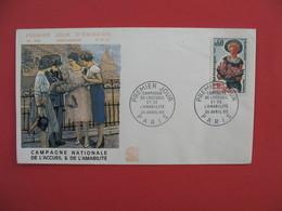 FDC 1965  Campagne Nationale De L'Accueil & De L'Amabilité  Cachet  Paris    à Voir - 1960-1969