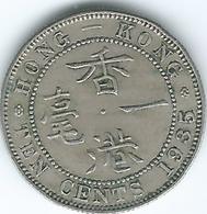 Hong Kong - George V - 10 Cents - 1935 (KM19) George VI - 50 Cents - 1951 (KM27.1) - Hong Kong
